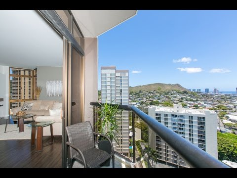 Boutique Honolulu High Rise with breathtaking 360-degree views of the Ocean, Downtown and Lush Hawaiian Mountains