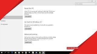 شرح الرجوع من ويندوز 10 الي الويندوز السابق 7 او 8 او 8.1 بدون برامج     -