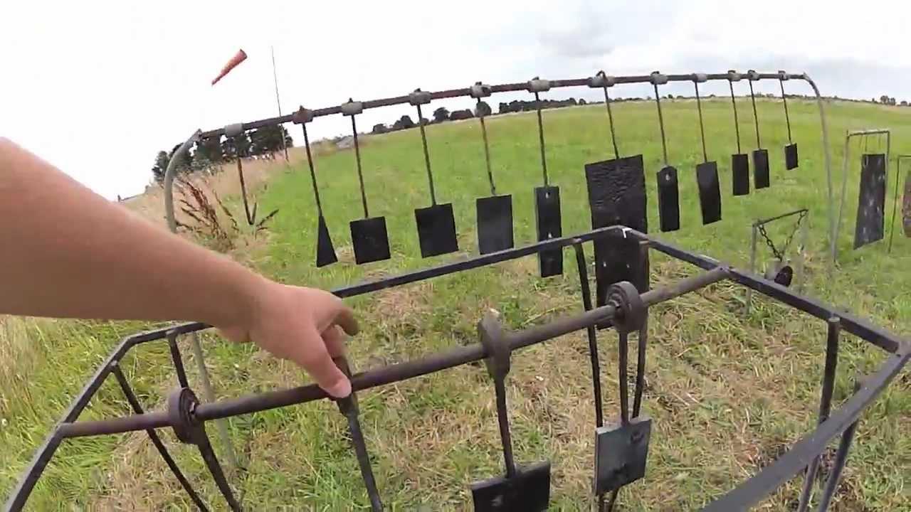 Homemade swinging steel targets