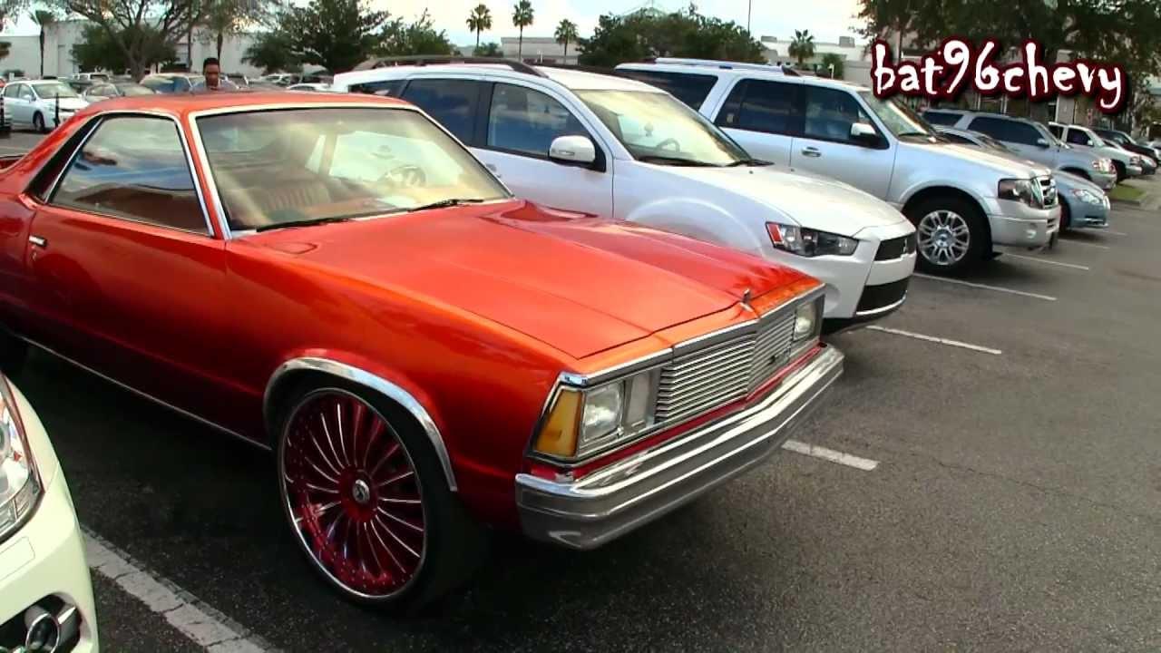 Candy Orange Chevy El Camino On 24 Quot Asantis 1080p Hd
