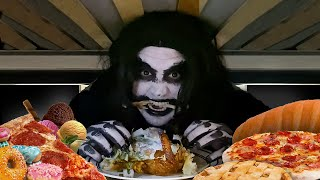 The monster under my bed is HUNGRY!!! 🍗🍕 🍩 🍨 🥖