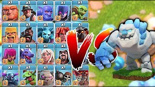 "ALL TROOPS vs. ICE GOLEM!! ""Clash Of Clans"" WHO WILL WIN!!?!"