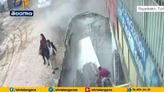 Shocking Footage: Pavement Collapsed Swallowing Two Women..