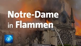 Paris: Kathedrale Notre Dame in Flammen
