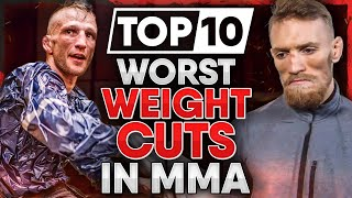 10 Most DANGEROUS Weight Cuts in MMA History