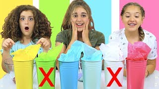 Don't Choose The WRONG Bucket of SLIME Challenge!!