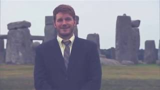 Parks and Recreation in Europe / Ron at the Distillery / Andy at Stonehenge