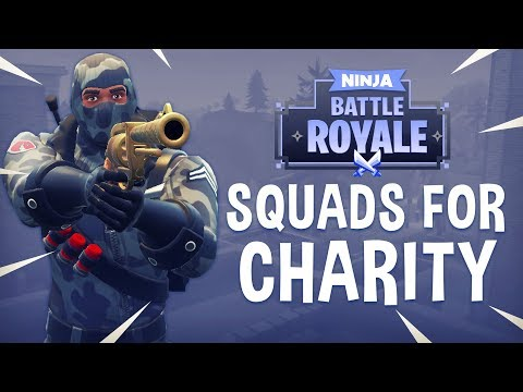 Squads For Charity! - Fortnite Battle Royale Gameplay - Ninja