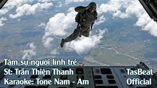Karaoke Tâm Sự Người Lính Trẻ - Tone Nam | TAS BEAT