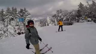 Okemo Mountain Resort's Longest ski trail - Upper & Lower Mountain Road - Dec 2017