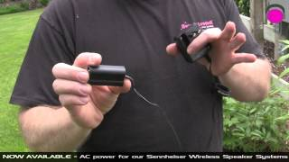 SENNHEISER AC ADAPTER KIT in action