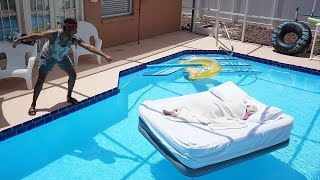 GRANDMA WAKES UP IN THE SWIMMING POOL PRANK!!
