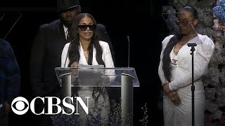 Lauren London gives emotional tribute to Nipsey Hussle