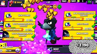 CROW DESTROY The Heist & Got 2190 Tokens - Brawl Stars Complete Missions #4