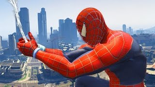 GTA 5 Spiderman Mod - Spiderman in GTA V