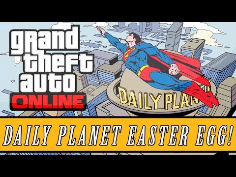 "Grand Theft Auto 5   Superman ""Daily Planet"" Easter Egg! (GTA V) - Smashpipe Games"