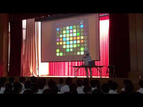 Maryknoll Secondary School Talent show (Launchpad performance) cosplay of marshmello