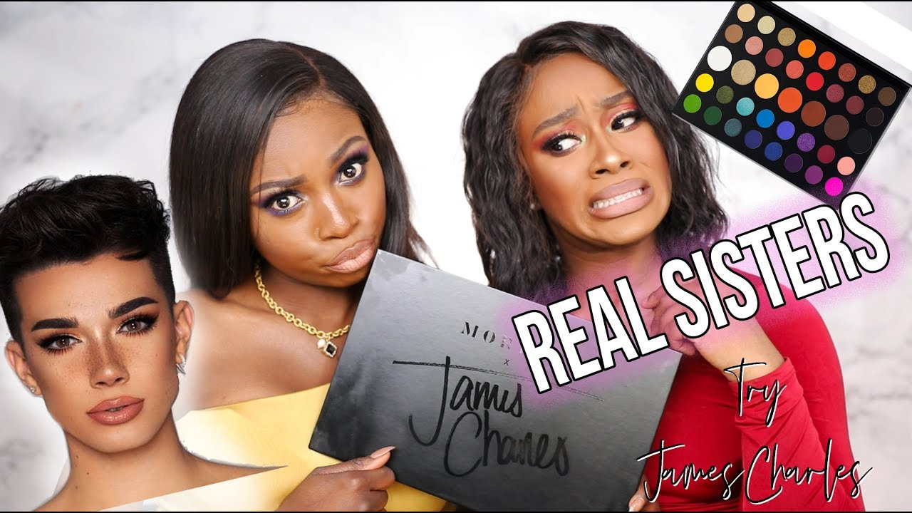 REAL SISTERS.....TRY JAMES CHARLES X MORPHE PALETTE- ARE WE SISTER ASHY? W MONICASTYLE MUSE!