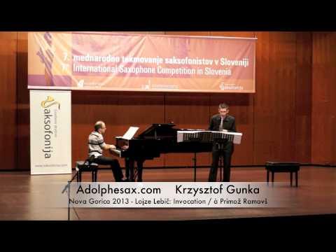 Krzysztof Gunka - Nova Gorica 2013 - Lojze Lebič Invocation / à Primož Ramovš