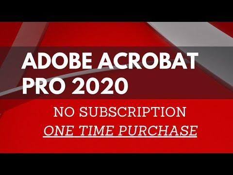Acrobat Pro 2020 NO subscription (not free)