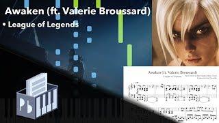Awaken (ft. Valerie Broussard) - League of Legends [Piano Tutorial + Sheets] (Synthesia) // Pianobin
