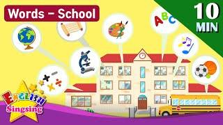 "Kids vocabulary Theme ""School"" - School, School Subjects, School Supplies - Words Theme collection"