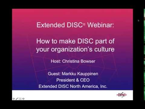 Making DISC Part of the Culture Webinar