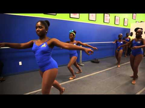International ballerina Michaela DePrince teaches class in Miami Gardens
