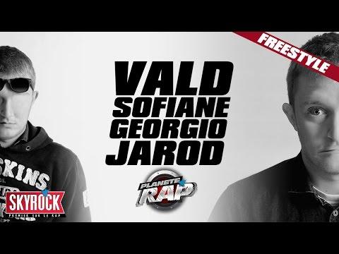 Vald, Sofiane, Georgio & Jarod en freestyle #PlanèteRap
