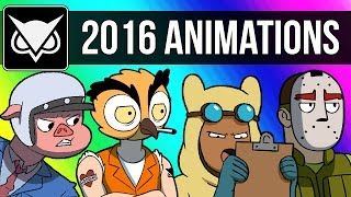 VanossGaming Animated 2016 Compilation (Moments from Gmod, GTA 5, Cod Zombies, & More!)