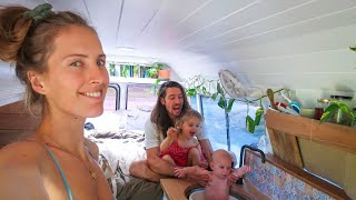 TINY HOUSE NIGHT ROUTINE (Bus living With 2 Kids)