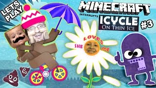 Lets Play ICYCLE: ON THIN ICE w/ Minecraft! She Loves Me ... Not? (Crazy Naked Bike Guy Part 3)