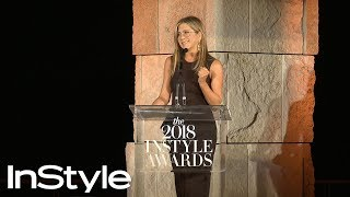 Even Jennifer Aniston Had Trouble Styling the Rachel Cut | InStyle Awards | InStyle