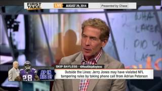First Take - Jerry Jones Violates NFL Tampering Rules?