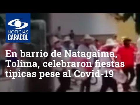 En barrio de Natagaima, Tolima, celebraron fiestas típicas pese al coronavirus