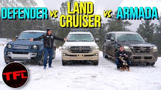 We Take 3 Iconic Off-Roaders Up A Mountain In a Snowstorm: What Can Go Wrong?