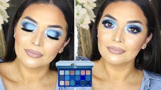 JEFFREE STAR COSMETICS BLUE BLOOD PALETTE EYESHADOW TUTORIAL