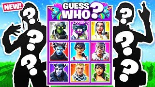 GUESS THE SKIN = YOU WIN! *NEW* GUESS WHO Game Mode in Fortnite Battle Royale