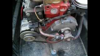 How do I prime the fuel pump on a Volvo Aq130 C Or how to