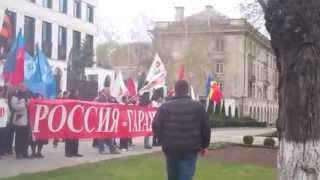 Domnica Cemortan flutură steagul României la Ambasada Rusiei