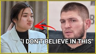 KHABIB SILENCED FEMALE INTERVIEWER WITH HIS DECISION