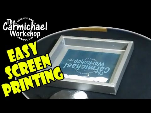 How To Screen Print Your Own T Shirts Easy Diy Screen