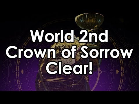 Destiny 2: World 2nd Crown of Sorrows Full Clear - All Boss Kills