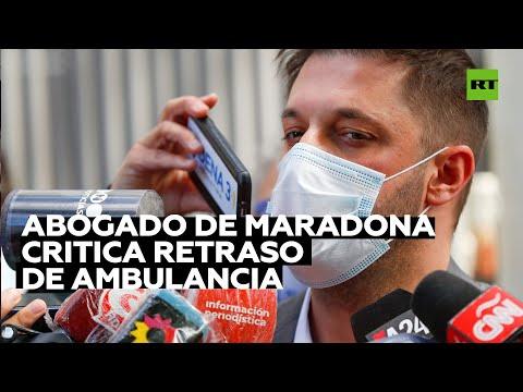 El abogado de Maradona critica la falta de atención médica al exfutbolista