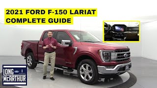 2021 FORD F-150 LARIAT COMPLETE GUIDE - Every feature and option available in one video