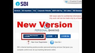 SBI New Version of Net Banking Explained