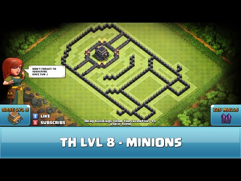 Town hall 8 defense coc th8 best trophy base layout defense strategy