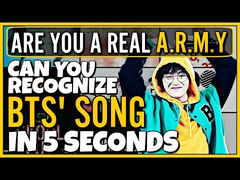 CAN YOU RECOGNIZE 15 BTS SONGS IN 5 SECONDS | KPOP GAME