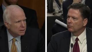 Senator John McCain's Bizarre questioning of former FBI Director James Comey