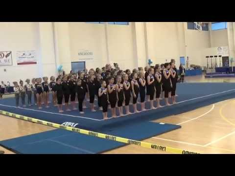 Arwen Grill-Kunej - Age 6 - GTC Level 2 - UT 2015 Gymnastics Meet National Anthem